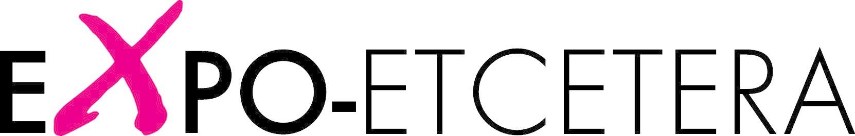 Het logo bestaat uit het woord Expo-etcetera. De x is wat groter en staat in het roze